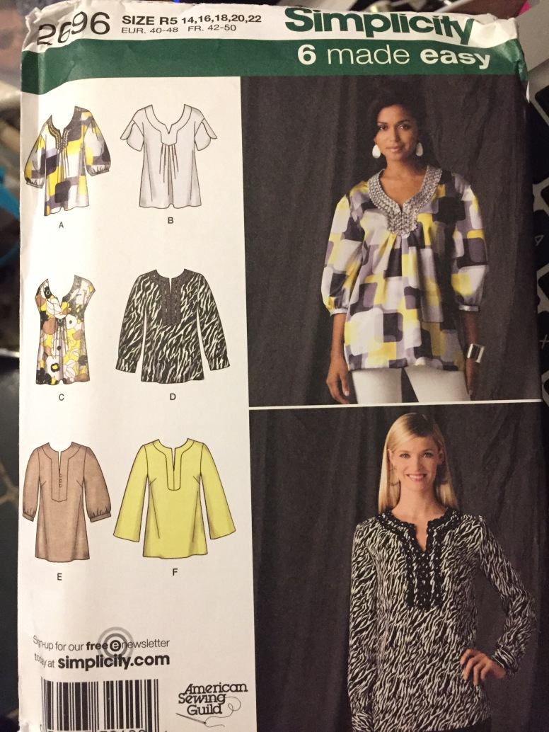 image 0 image 1 image 2 image 3 image 4 image 5 image 6 🔎zoom Misses' Plus Size Tunics Sewing Pattern Simplicity 2696 Bust 36-44 inches Uncut Complete Plus Size